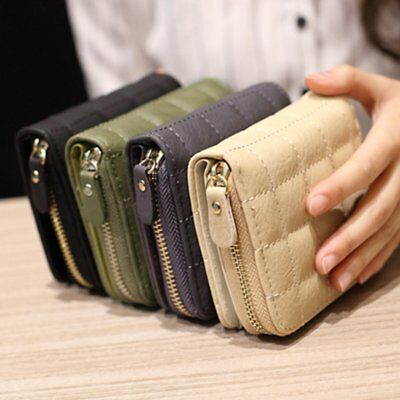 Women Lady PU Leather Wallet Zipper Clutch Card Holder Purse Mini Handbag Tote