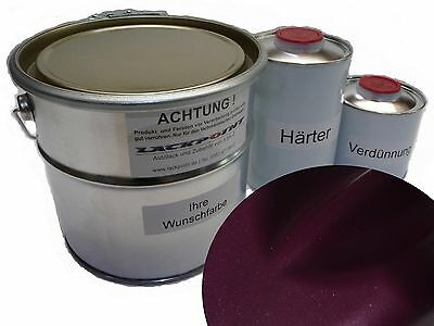 7 Liter Set 2K Car Paint Dark Violet Metallic Matte Trend Purple Tuning NEW