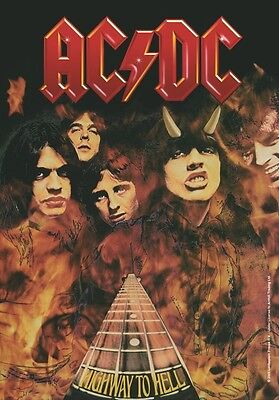 AC/DC highway fire Textile Poster Flag