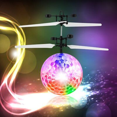 Magic Electric Infrared Sensor Flying Ball Helicopter LED Light Toy Kids Gift A1