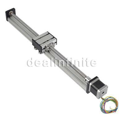 1204 Ball Screw CNC Linear Slide Stroke 400MM Long Stage Actuator Stepper Motor!