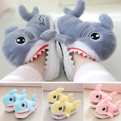 CHIC Unisex Winter Furry Home Slipper Indoor Warm Soft Bottom Shark Shoes