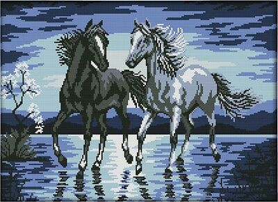 Horses Travelling Together 14CT counted cross stitch kit. Craft brand new
