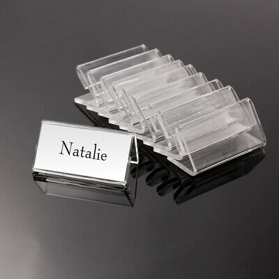 50x Acrylic Clear Desktop Price Name Sign Label Display Tag Stand Holder 4 X 2cm