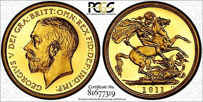 1911 Gold Proof Two Pounds; Rare Low Mintage Example