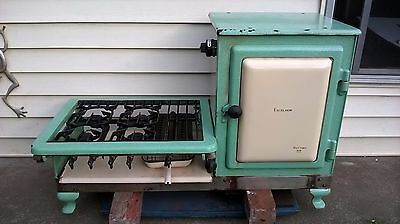 Vintage Metters Excelsior enamel gas stove and oven c1930's