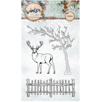 Studio Light Clearstempel A6 Winter Feelings nr 237 STAMPWF237 152420