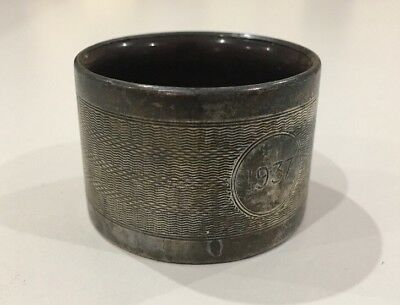 Solid Silver And Horn Napkin Ring