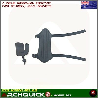 New Archery Wrist Arm Guard Finger Tab Kit Compound Bow Recurve Bow Shooting