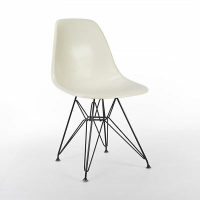 Brilliant White Herman Miller Original Authentic Eames DSR Side Shell Chair