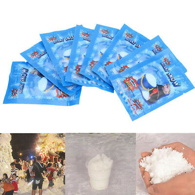 LOTS 100 Pack Fluffy Instant Snow Super Absorbant Magic Toy Prop Christmas Decor