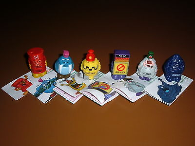 Series 3 Yowie Grumpkin Men Set Of 6 With Papers  Excellent