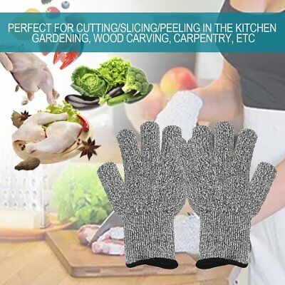 Cut-Resistant Gloves Protective Hand Finger Gloves Elastic Light Weight Tools AU