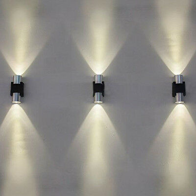 Modern 2W LED Wall Light Fixture Up Down Sconce Lamp Indoor Outdoor Waterproof