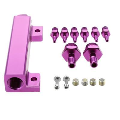 Vacuum Intake Manifold Kits 6Port 1/8 NPT Turbo Wastegate Boost Block Purple