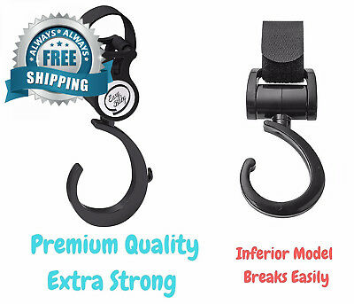 Stroller Hooks,2 Pack Adjustable Baby Carriage hooks for Mommy when...