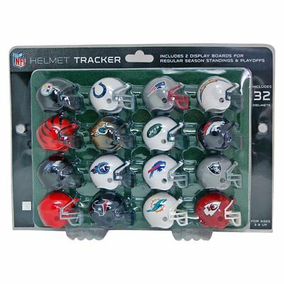 NFL Football Helmet Playoff Tracker Set