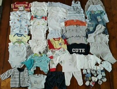 HUGE bundle boys baby clothes (newborn & 0-3 months) Next, M&S, Mama's & Papa's