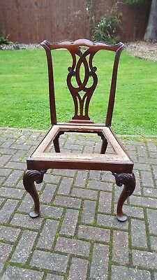 Fine Mid 18th Century Chippendale Style Mahogany Dining Chair with Carved Legs