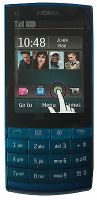 New Nokia X3-02 Dummy Display Phone - Blue - Uk Seller