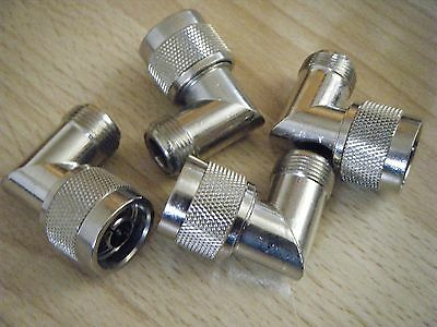 N Type Angled Male to N Female Coaxial Connector Adapter x 1