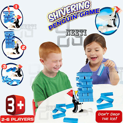 Children Shivering Penguin Balance Block Board Game Toy Set Xmas Gift Present