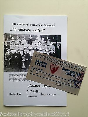 Red Star v Manchester United Programme 5th Feb 1958 Busby Babe Last Match