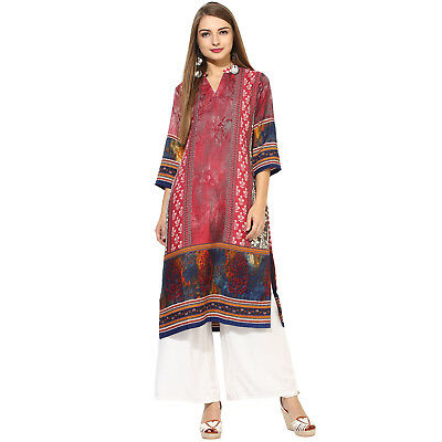 Indian Stylish Kurtis Jamawar Collection Pre Winter Top Tunic Ethnic From Ladies