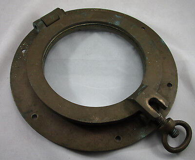Solid Brass SHIPS PORTHOLE with Glass / Vintage Port Hole