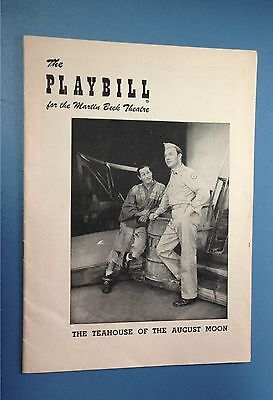 "1955 Martin Beck Theatre Playbill Eli Wallach ""The Teahouse Of The August Moon"""