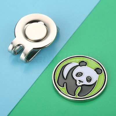 1 Piece Metal Pande Degisn Panda Hat Clip With Strong Magnetic Golf Ball Marker
