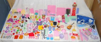 271 Pieces Barbie Doll Accessories & House/Furniture Parts Lot Modern & Vintage