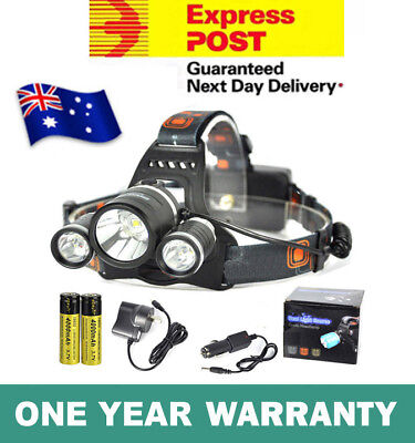 Rechargeable 13000Lm Cree 3T6 Xml Led Headlamp Headlight Torch Lamp
