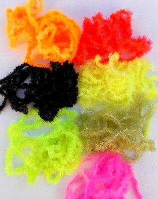 7 cactus ciniglia pesca mosca - fly tying material BLOB CHENILLE 5 mm 7 colors