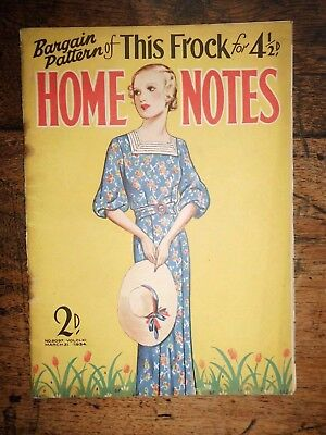 HOME NOTES 1934 Ladies Magazines Fashion Celebrities Health Home Adverts Deco