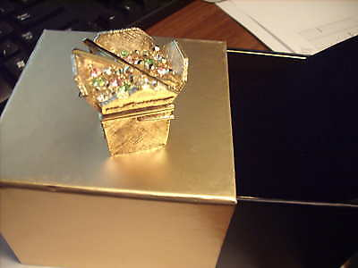 """Estee Lauder Solid Perfume Compact """"Glimmering Take Out"""" MIB"""