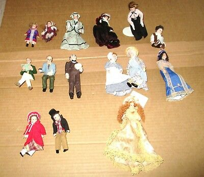 Ceramic and dressed Dolls House figures