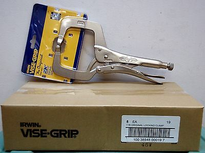 "Irwin Vise-Grip 11R 11"" Original Locking C-Clamp-5 pc. Lot"