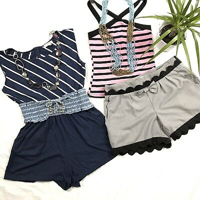 6 Pcs Womens Clothing Lot Small Summer Outfit Open Back Romper I Love H8 1