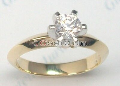 Solitaire ring yellow gold 18 kt. diamond VS1G 0.20ct