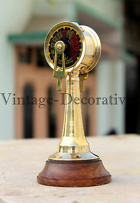 Maritime Vintage Brass Telegraph Handmade Table Top Nautical Ship Telegraph Gift