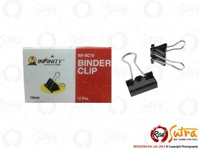12x Inffinity Binder Clips 19 mm office School & home Clip Free Shipping