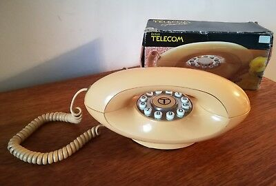 Vintage Retro 70's Genie Telecom Corded Phone Full Working Order
