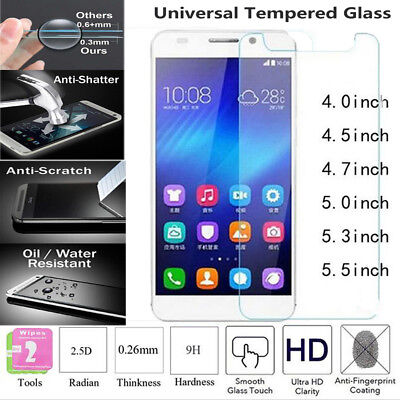 For Mobile Phone Universal Tempered Glass Film Guard Ultra-slim Screen Protector