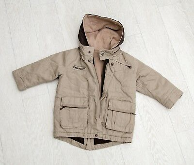 IMMACULATE baby boys 'TIMBERLAND' 3 WAY HOODED WINTER COAT/HOODIE Age 18 Months