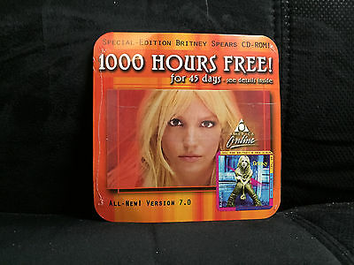 Aol America Online Version 7.0 Britney Spears Cd Disc New Sealed Hard-To-Find!