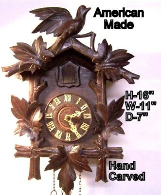 Vintage, 1940's era American Made Cuckoo Clock, selling as-is, as-found