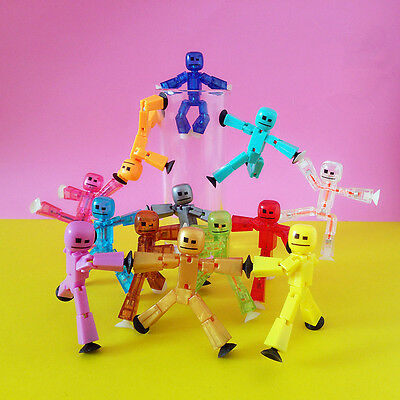 Random Zing Stikbot Robot Animation Single Figures Kid Toy - All Different 10Pcs