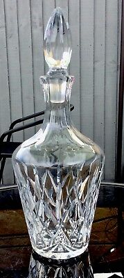 Royal Doulton Crystal Cut Glass Decanter, With A Fluted Tear Drop Stopper.