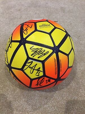 SB5 Testimonial Match Used Ball, SIGNED by DCFC Squad